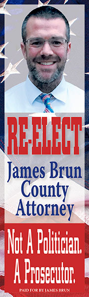 Re-Elect James Brun County Attorney